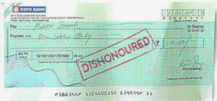 Man Handed A Jail Sentence Because Of A Bounced Cheque He Issued 17 Years Ago