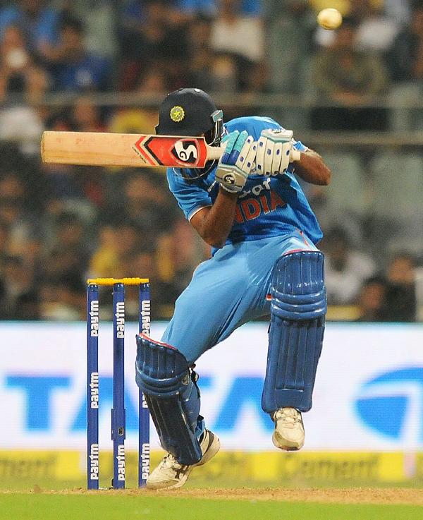 Indian tailender facing a bouncer