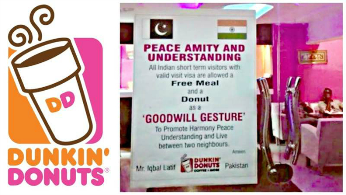 This Pakistani Restaurant Is Serving Free Donuts To Indians In A Bid To Promote Harmony And Goodwill