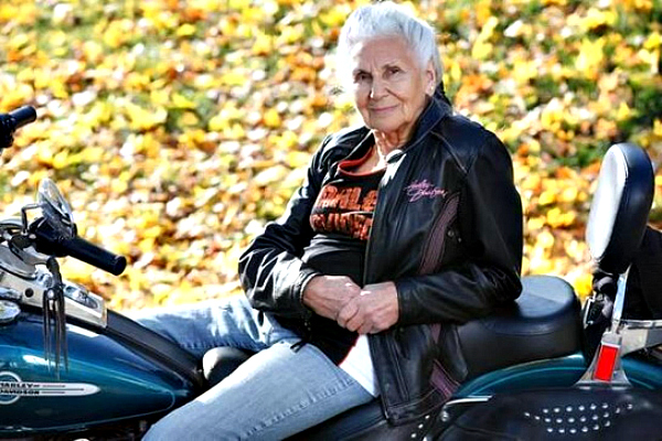 She Rode Her First Motorcycle In 1941. 74 Years Later, 90-Year-Old Gloria Tramontin Struck Rides On As An Inspiration For All