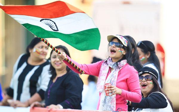 Indian fans celebrating