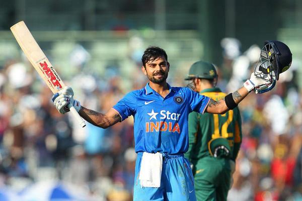Virat Kohli celebrates his 1st ODI ton vs SA