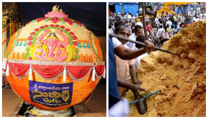 Locals Steal Huge Chunks From A 6-Tonne Ganesh Laddu, All Hell Breaks Loose As Devotees Riot