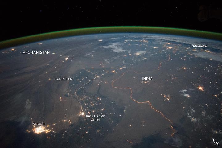 NASA India Pakistan Border