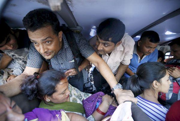 nepal buses halted