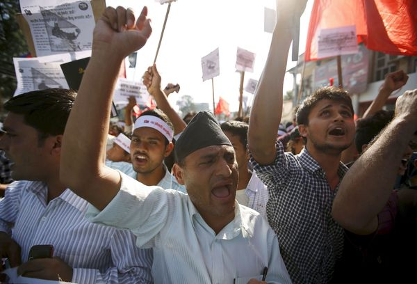 nepal protests 2015