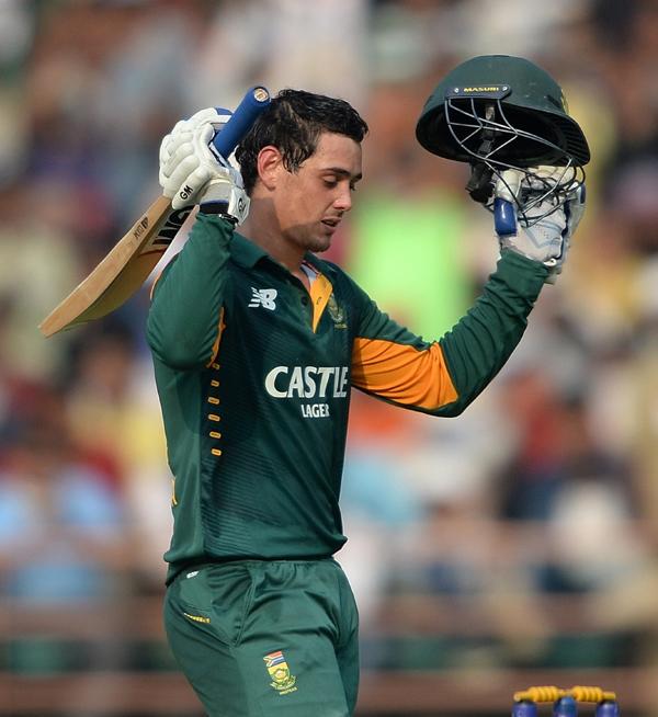 Quinton de Kock reached his 7th ODI ton and 4th vs India