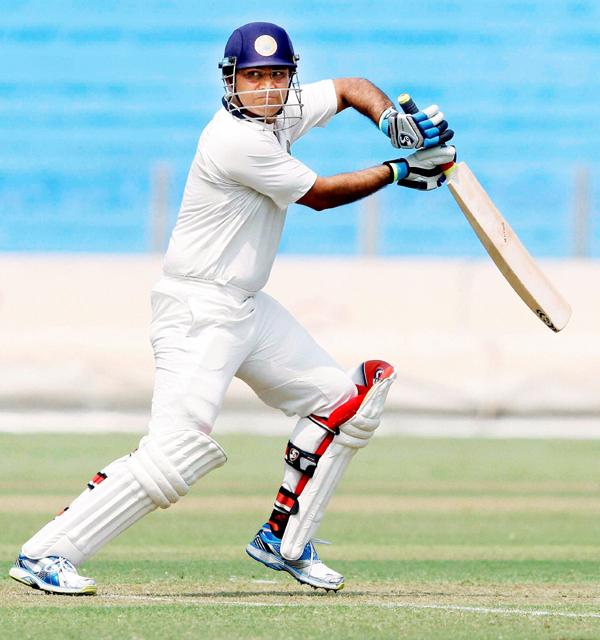 Sehwag playing Ranji Trophy