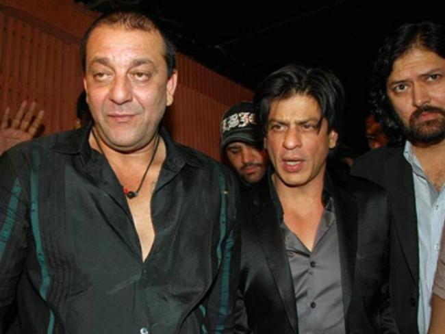 Shahrukh Khan and Sanjay Dutt