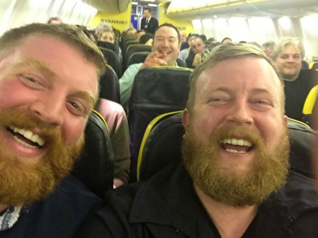 Twins Meet On A Ryanair Flight