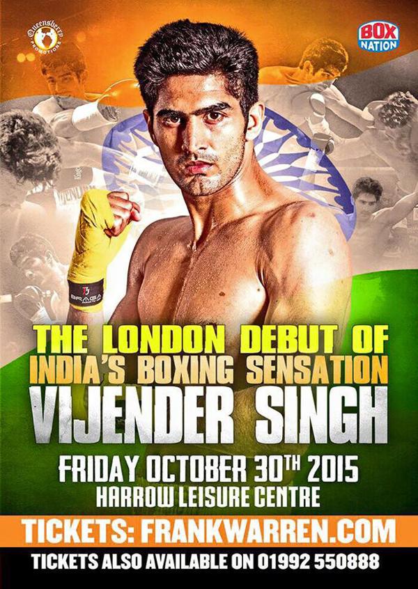 Vijender Singh poster for October 30 fight