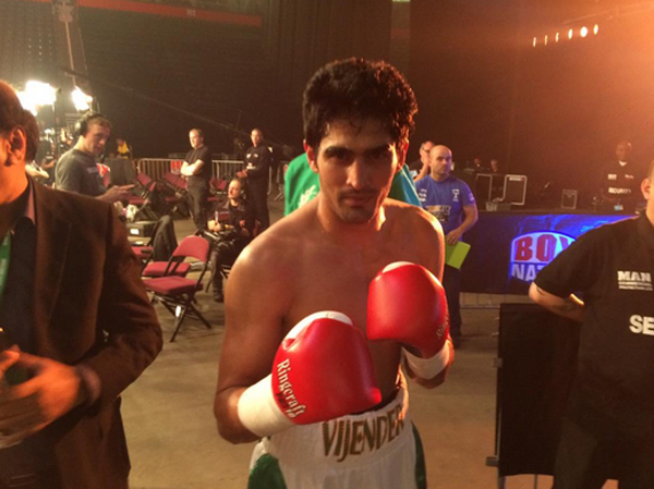 Vijender after his win over Sonny Whiting