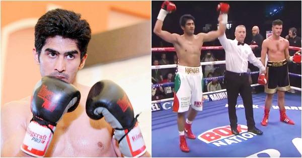 Vijender Singh declared winner over Sonny Whiting