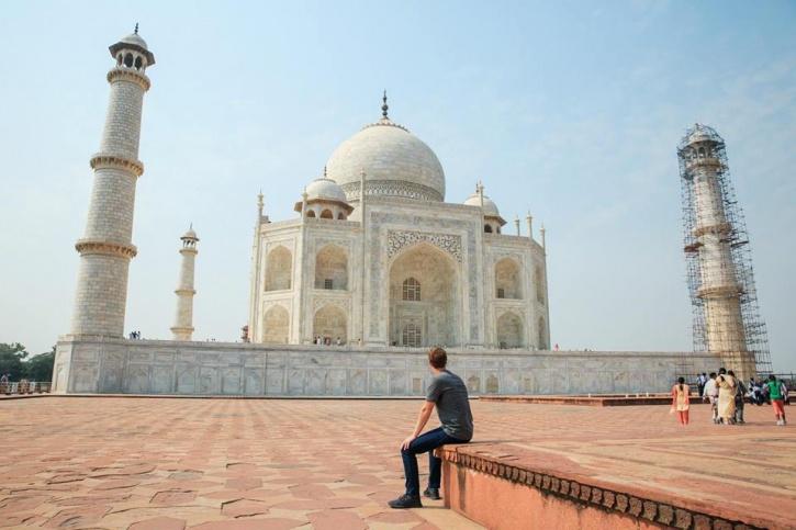 Mark Zuckerberg in Agra