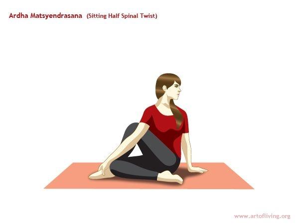 Ardha Matsyendrasana (Sitting Half-spinal twist)