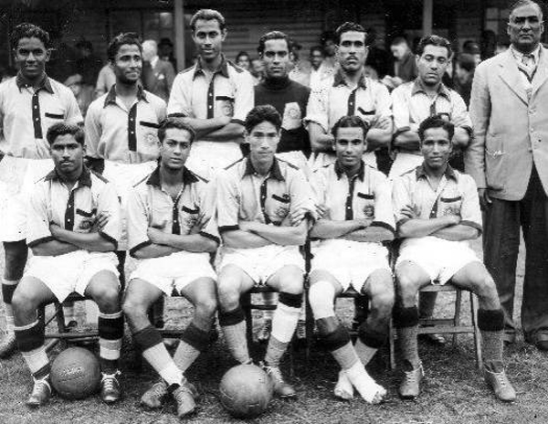 India football team during the 1948 Summer Olympics