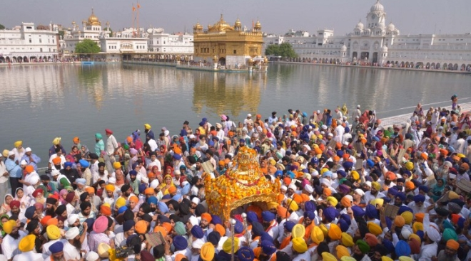 Celebrations Galore At The Golden Temple On The 411th Installation Day Of The Guru Granth Sahib