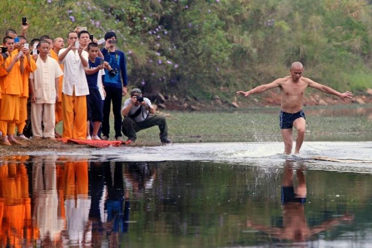 Shaolin Man Running On Water