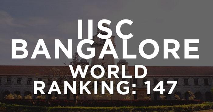IISc Bangalore is World