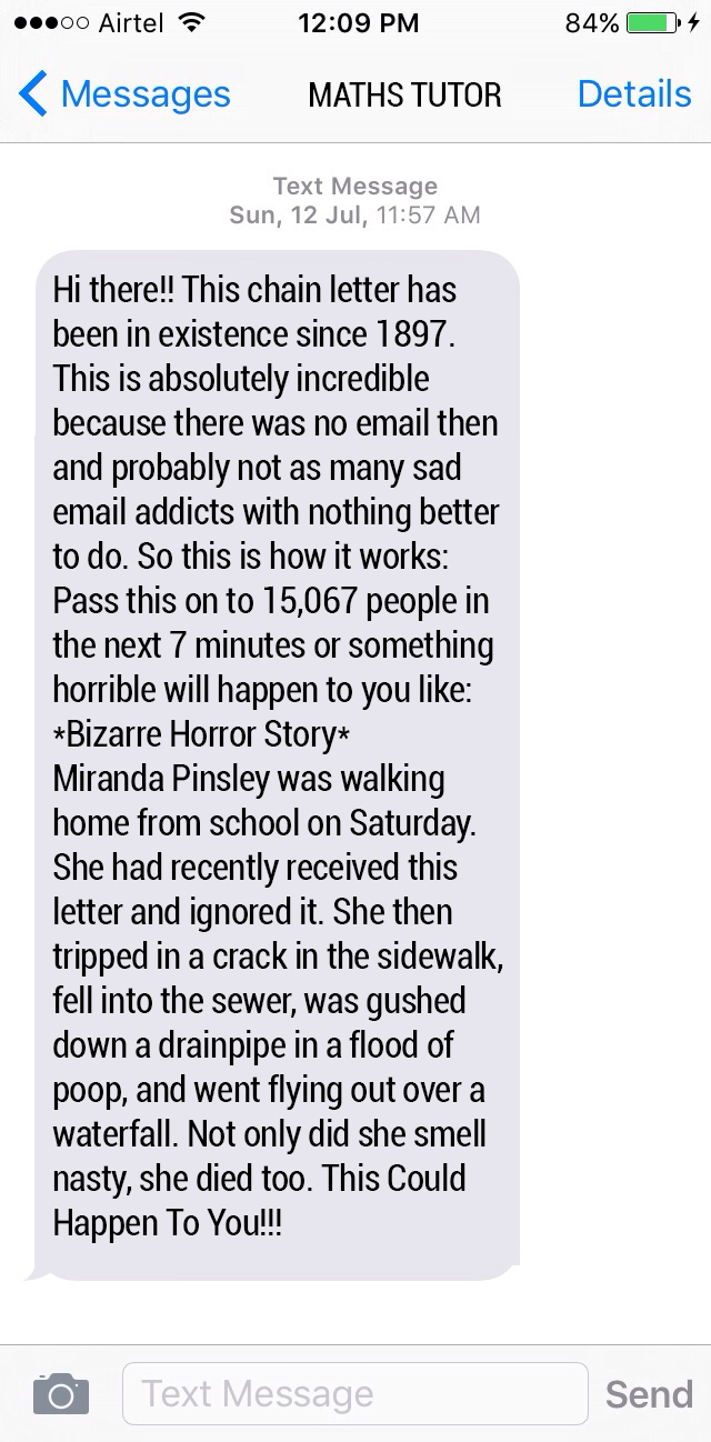 Funny Chain Letters