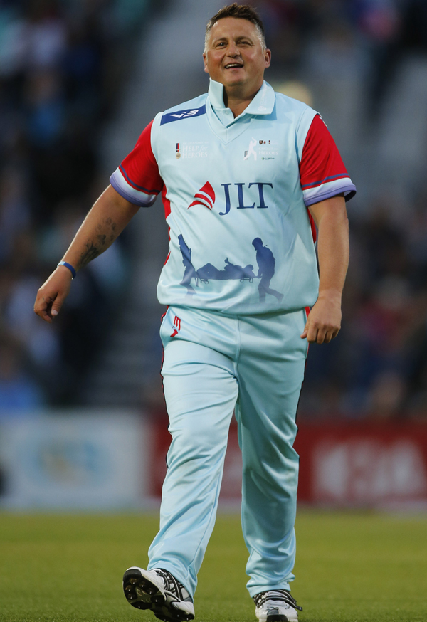 Darren Gough in the Help for Heroes side