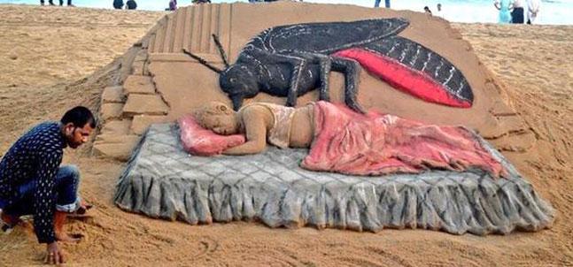 Dengue Sand Art