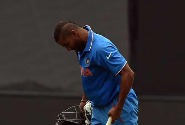 Shikhar Dhawan is out