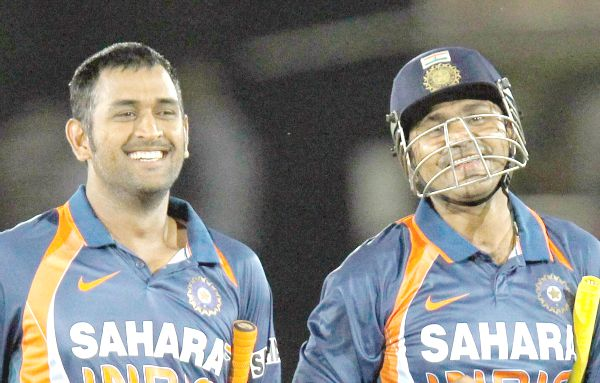 Dhoni and Sehwag