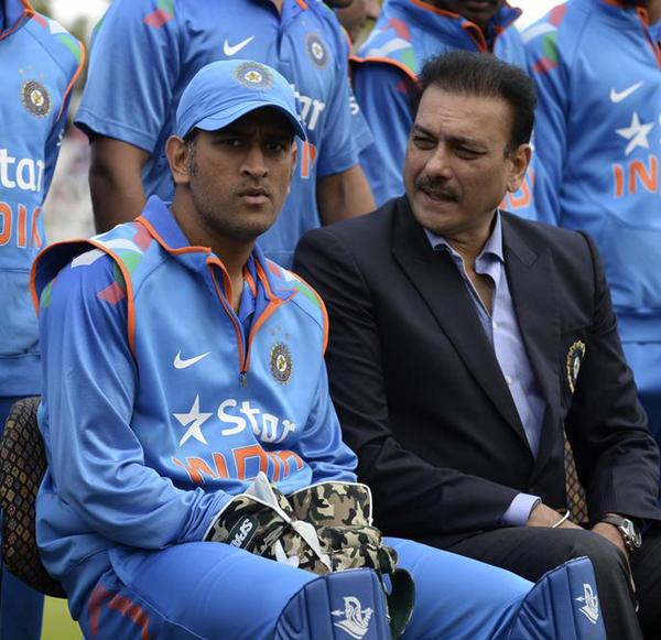 Dhoni and Shastri