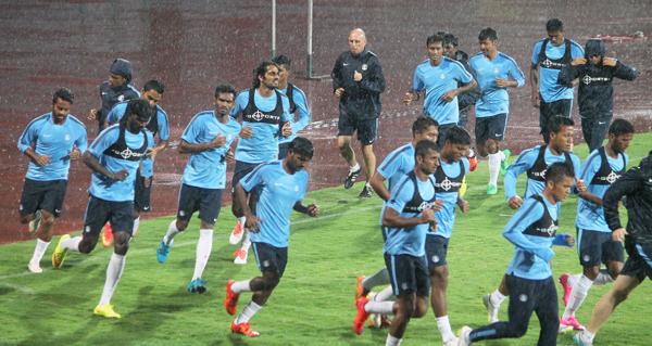Indian team preparing to face Iran