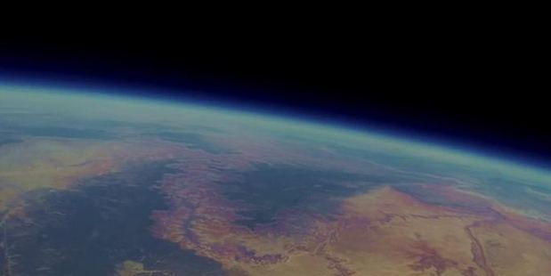 Lost GoPro camera takes spectacular images from the edge of stratosphere