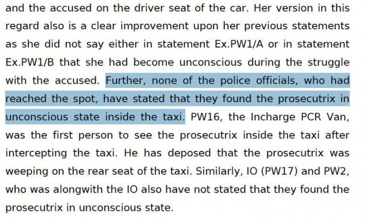 rape accusation Ramesh Kumar, cab driver rape 2015 India, rape law evidence India,