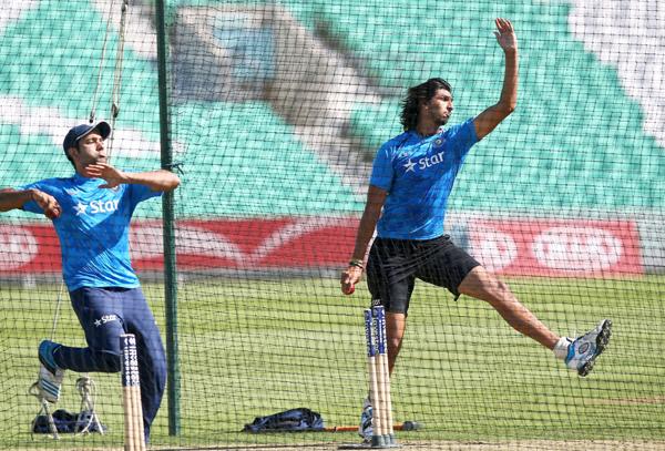 Ishant Sharma in the nets