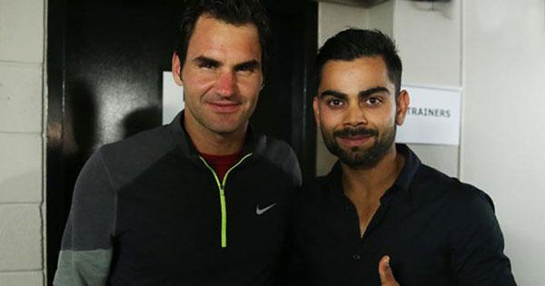 Kohli with Federer
