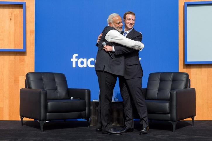 #ModiAtFacebook