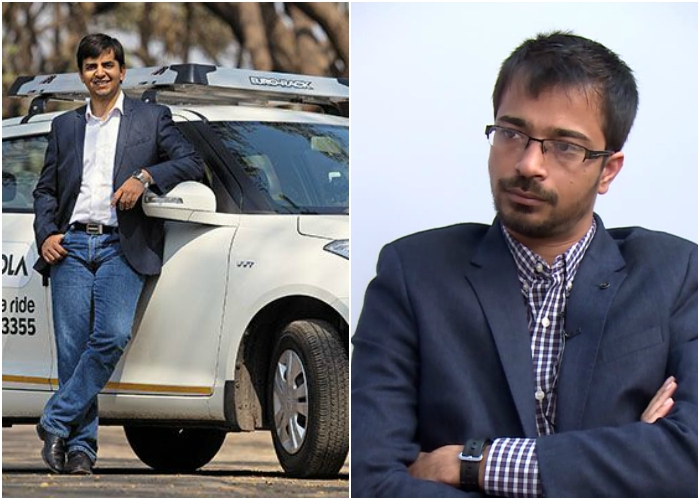 ola cab founders bhavesh and ankit