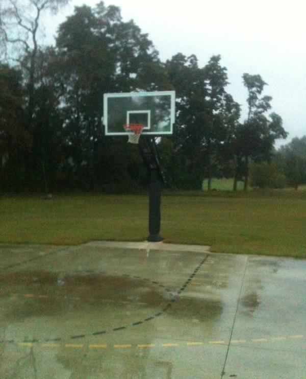 Basketball stadium swamped in rain Girls playing basketball (Representational image)