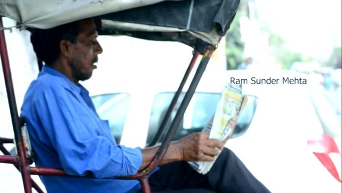 Rickshaw puller travels across india