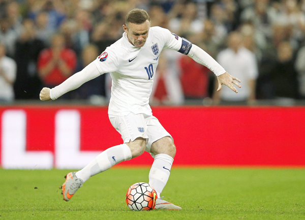 Rooney playing Euro Qualifiers for England
