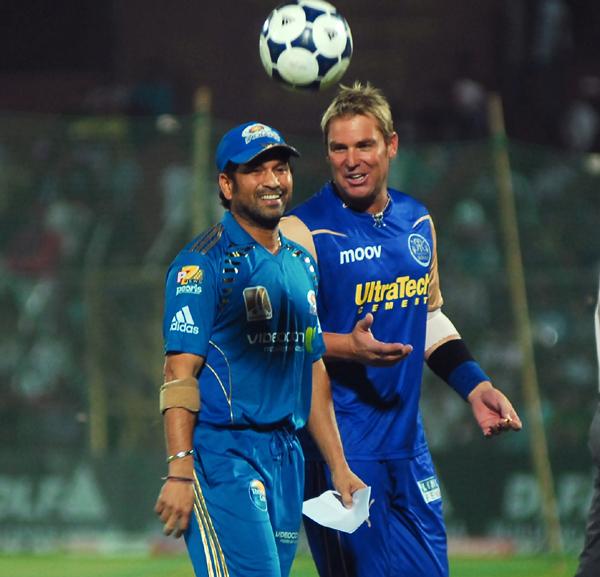 Sachin and Warne during IPL