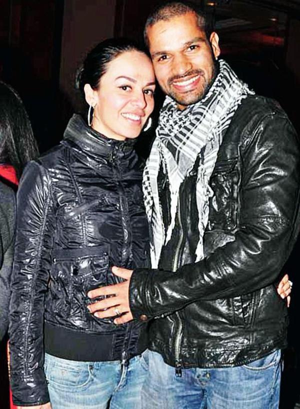 Shikhar Dhawan with wife Ayesha