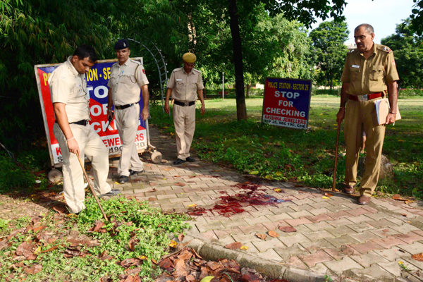 The Chandigarh Sector 27 park where his body was found