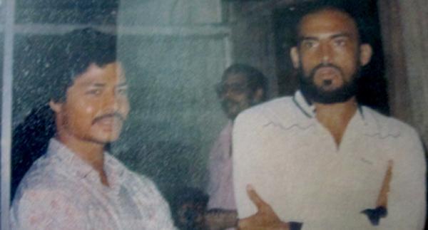 Krishanu Dey (left) with Sudip Chatterjee