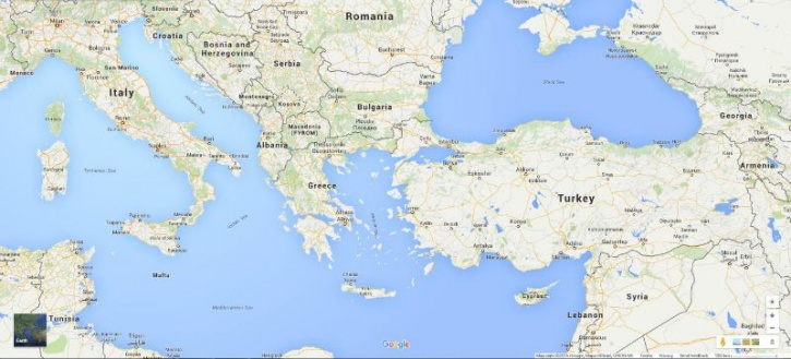 Syria, Greece, Italy