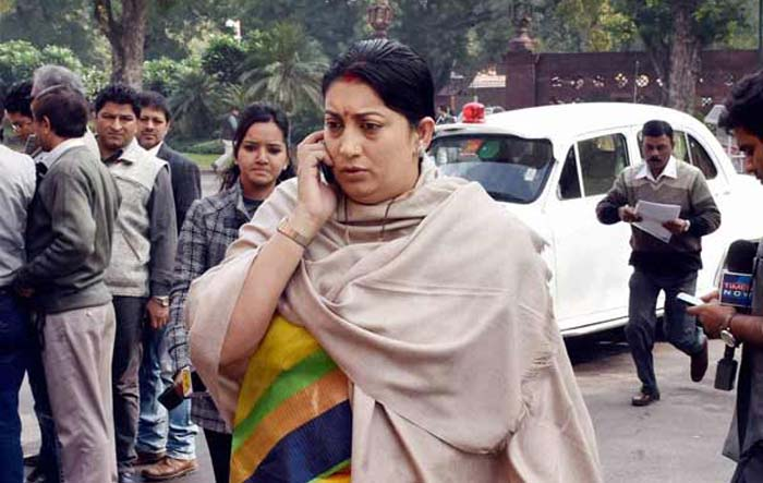 Smriti Irani Convoy Car Allegedly Killed His Father, Police Force Him To Change Car Nameplate