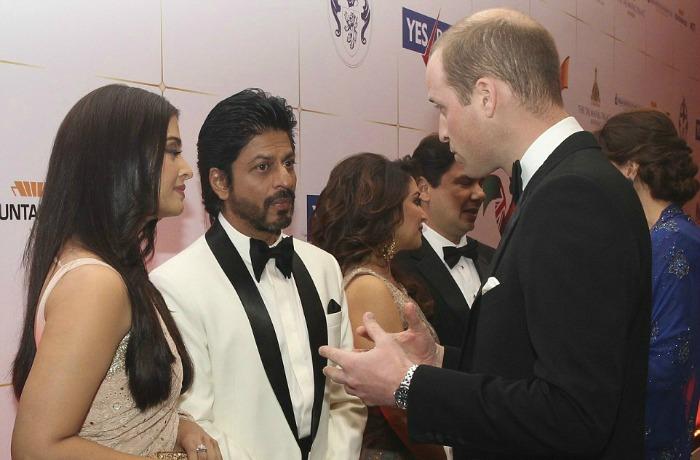 Prince William, SRK and Aishwarya
