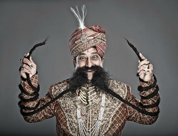 longest moustache ram chauhan