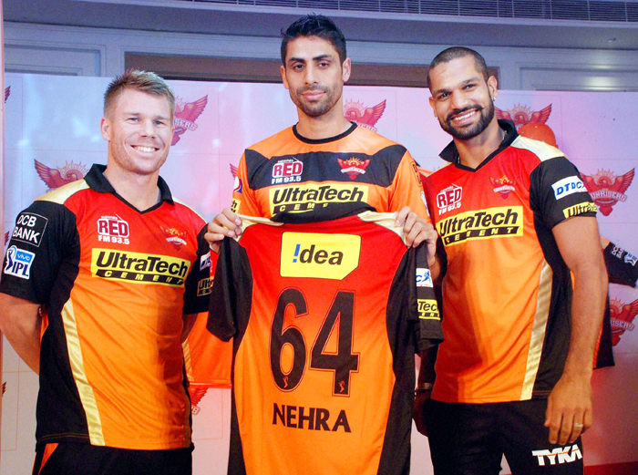 Warner, Nehra and Dhawan
