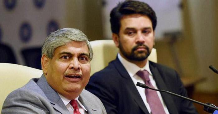 BCCI President Shashank Manohar & BCCI Secretary Anurag Thakur