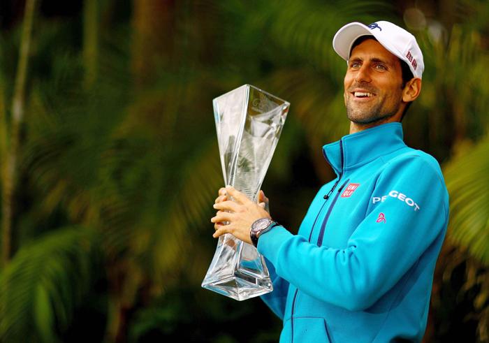 Djokovic with Miami Open trophy
